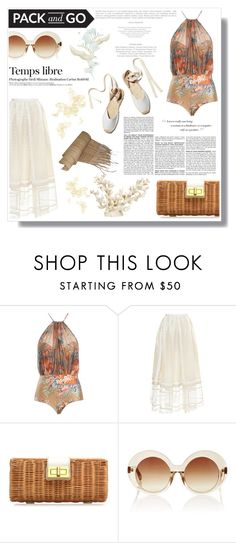 """""""Pack and Go: Labor Day"""" by nina-lala ❤ liked on Polyvore featuring Zimmermann, Rochas, Soludos, J.Crew, Linda Farrow, Zara Home, Hedi Slimane and BCBGMAXAZRIA"""