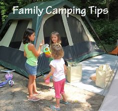 Family Camping Trips - tips to make a successful camping adventure!