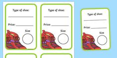 A handy set of shoe box labels to bring your role play area to life! Role Play Areas, Play Shoes, Shoe Shop, Types Of Shoes, Life, Shopping
