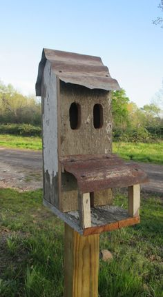 Rustic Birdhouse by imhistory on Etsy