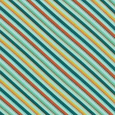 Smore Love Happy Trails Aqua by Eric and Julie Comstock- Moda Fabric - 1 Yard