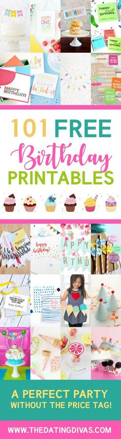 Wooo can't wait to use these for b-day time! Great ideas for planning any birthday party! Loving that they're free to print when I wait for the last minute to plan!