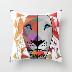 LION throw pillow by Mark Ashkenazi