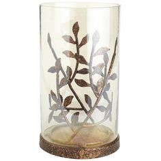 Metal Leaves Hurricane - I love how this coordinates with the other leaf items that Pier One is carrying this fall, that can be spread throughout your rooms to coordinate them too! From Dining Table to Living Room, your house will flow! Pillar Candle Holders, Pillar Candles, Metal Pumpkins, Fall Garland, Bowl Fillers, Pier 1 Imports, Cozy House, Tea Lights, Wine Glass