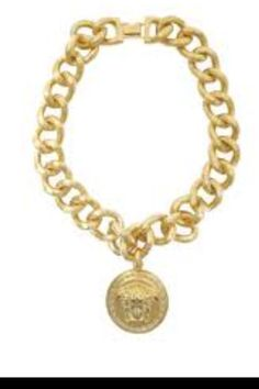 Versace thick 80s necklace!! So dope! Need this yellow gold in my life