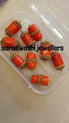 Coral Gold Chain Design, Gold Jewellery Design, Bead Jewellery, Beaded Jewelry, Ruby Jewelry, Emerald Jewelry, India Jewelry, Gold Jewelry, Gold Earrings Designs