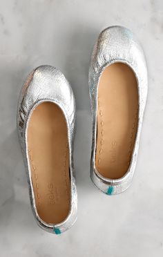 On the run or having fun, Silver Screen Tieks will have you ready for any red carpet (or sidewalk) that comes your way! | Tieks Ballet Flats