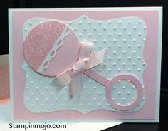 Trendy Baby Girl Cards Stampin Up Punch Art 68 Ideas Baby Girl Cards, New Baby Cards, Stampin Up Karten, Stampin Up Cards, Baby Shower Card Sayings, Baby Shower Cards Handmade, Cute Cards, Cards Diy, Diy For Girls