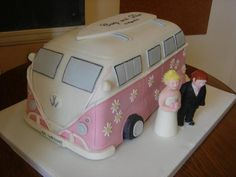 ...Cute Wedding Cake for Campers