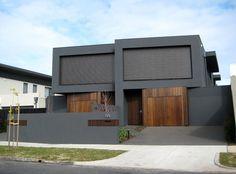 Webb Street Town Houses (duplex) - Caulfield - by Davey Architecture Studio, Australia - Semi Detached, Detached House, Exterior House Colors, Exterior Design, Duplex House Design, Minimal Architecture, Narrow House, Facade House, House Facades