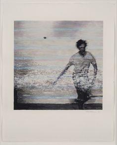 titreuse - Kon Trubkovich,One Small Leap 3,Watercolour on...