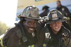 Behind the Scene - Chicago Fire - Eamonn Walker and David Eigenberg