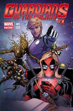 DYNAMIC FORCES® - GUARDIANS OF GALAXY #1 TEXTS FROM DEADPOOL RETAILER VARIANT CGC GRADED 9.8!