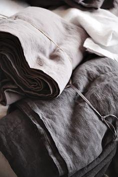 grey and dark grey linen⎪natural materials Textile Fabrics, Home Textile, Linen Bedding, Linen Fabric, Bedding Sets, Chevron Bedding, Shibori Fabric, Gray Matters, Linens And Lace