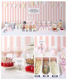 Wedding Ice cream Station #yum #sweet #table #ice-cream #station #happy #froyo  More inspiration: www.fb.com/labolaweddings twitter.com/lala4e_labola