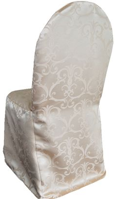 Versailles damask chair covers rental 718-744-8995, www.newyorksublimeevents.com Chair Cover Rentals, Chair Ties, Spandex Chair Covers, Versailles, Sash, Damask, Armchair, Color, Home Decor