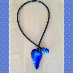 Fused glass heart.