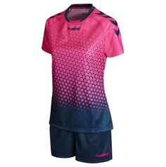 Pink Glo Legion Blue Rebel Womens Training Kit – Kauf' hummel sport t-shirts für frauen on hummel.net