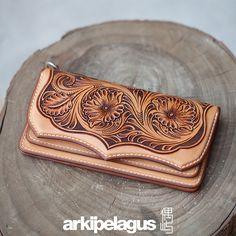 Leather carving Long Wallet (Designer Aleron Yang) on Behance