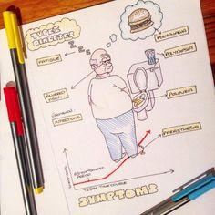 Diabetes tipo II . Sara Clifford ilustrations