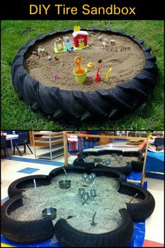 A Weekend Backyard Project Using an Old Tractor Tire. A Weekend Backyard Project Using an Old Tractor Tire. Kids Outdoor Play, Outdoor Play Areas, Kids Play Area, Backyard For Kids, Backyard Projects, Backyard Ideas, Outdoor Spaces, Garden Ideas, Tire Playground