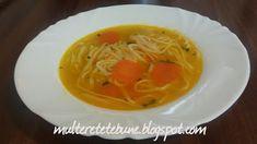 RETETE: Supa falsa de pui Supe, Spaghetti, Ethnic Recipes, Food, Essen, Meals, Yemek, Noodle, Eten