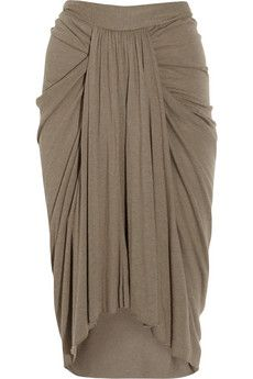 RICK OWENS LILIES  Ruched jersey skirt