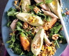 Creamy avocado and rotisserie chicken salad is the perfect recipe with sea salt and black pepper. Find these and other sea salt and black pepper recipes on EatOut Rotisserie Chicken Salad, Chicken Salad Recipes, My Favorite Food, Favorite Recipes, Perfect Food, Light Recipes, Food Inspiration, New Recipes, Avocado