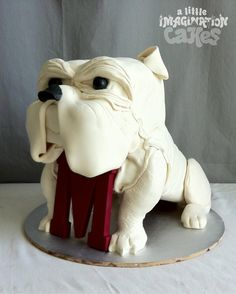 Mississippi Bulldog Cake by A Little Imagination Cakes