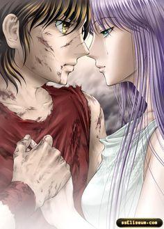 Saint Seiya - Pegasus Seiya & Athena