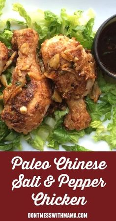 Paleo Chinese Salt and Pepper Chicken #glutenfree #recipe - DontMesswithMama.com