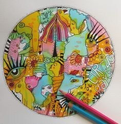 """""""May all your days be circus days"""" . www.makeartbehappy.nl"""