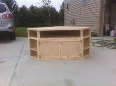 How to Build Your Own DIY Corner TV Stand #cornertvstands