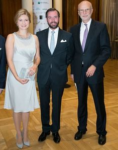 Princess Stephanie and Prince Guillaume attended a Gala Dinner in Madrid