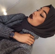 Pinterest: @eighthhorcruxx. hijabequalsmodesty: IG: limakalim // HALIMA #hijab #hijabfashion #makeup
