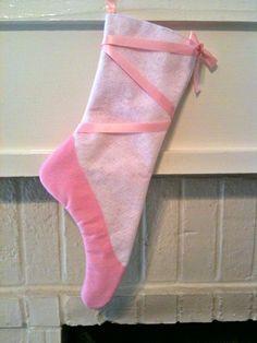Christmas Stocking Ballet Pointe Shoe!