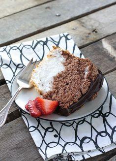 Black & White Angel Food Cake - FoodBabbles.com