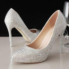 chaussures femme talons hauts pour robe de soirée aux mini strass scintillants escarpin pas cher à talon aiguille