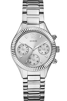 GUESS W0323L1 Women's Dress Elegant,Stainless Steel-Tone Bracelet,Multifunction Dial ** You can get more details by clicking on the image.