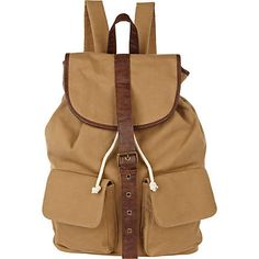 light brown canvas rucksack