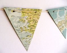 #diy map decor. Hang on an empty wall for a backdrop or decor? New room??