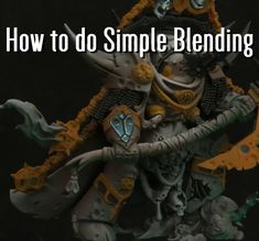 Hello I'll show you how to do the simplest blending. The principles apply to almost any surface, but this method is most effective on small surfaces. You should think about it like the 3 step process. Dark base