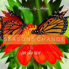 Seasons change and so do we. Stuff To Do, Change, Inspirational, Seasons, Instagram Posts, Design, Seasons Of The Year, Design Comics, Inspiration