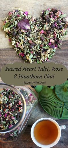 Honor your sacred heart with this tulsi, rose, and hawthorn chai. This warming, relaxing blend of herbs and traditional chai spices will soothe and protect.
