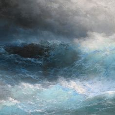"""""""Among the Waves"""" (1898, detail) by Ivan Aivazovsky. #romanticism #painting #visualmelt"""