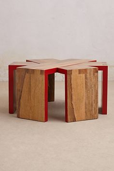 Cartesian Table Anthropologie $798 - for entry not sure what stools yet - subtle red theme