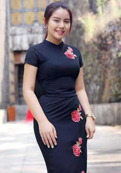 New Travel Clothes Women Asia Traditional Dresses Ideas Myanmar Traditional Dress, Traditional Dresses, Sexy Asian Girls, Hot Girls, Burmese Girls, Myanmar Dress Design, Myanmar Women, Chica Cool, Travel Clothes Women
