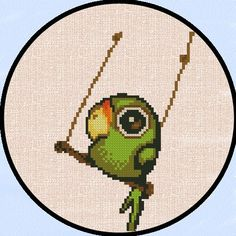 Counted Cross Stitch Pattern - Cross Stitch Pattern Cute & Easy Tiny Parrot