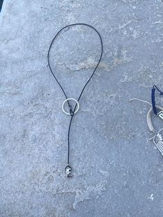 Initial/ Letter and circle lariat necklace silver, sterling silver ini – Handmade with Love - Eleni Pantagis