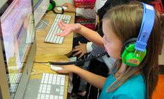 Students can listen to audiobooks by wearing ambient noise-reducing headphones #edtech #reading